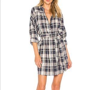 ATM ANTHONY THOMAS MELILLO Plaid Shirtdress Dress